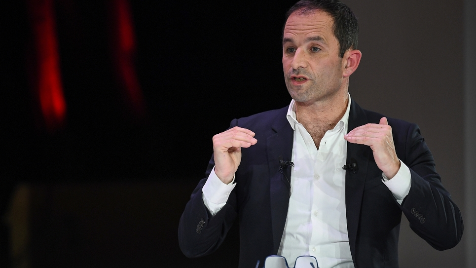 Benoît Hamon à Paris le 11 avril 2019