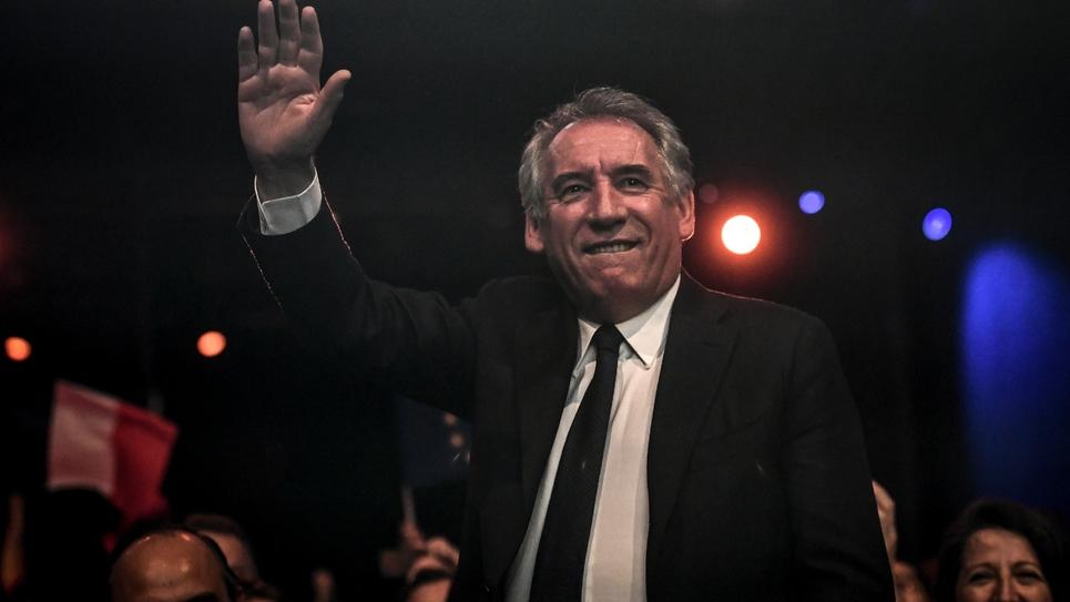 Le président du Modem, François Bayrou, au lancement de la campagne de LREM pour les élections européennes à Aubervilliers, en Saine-Saint-Denis, le 30 mars 2019