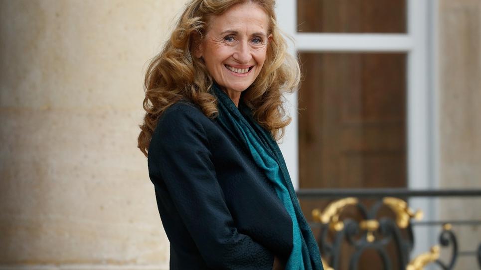La ministre de la Justice, Nicole Belloubet, au Palais de l'Elysée le 25 octobre 2017