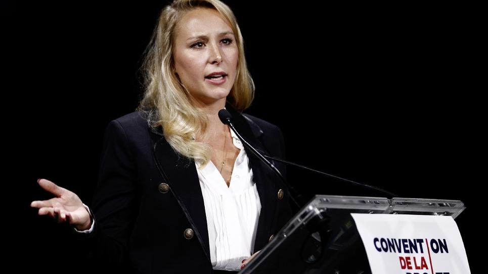 """Marion Maréchal lors de la """"Convention de la droite"""" à Paris le 28 septembre 2019"""