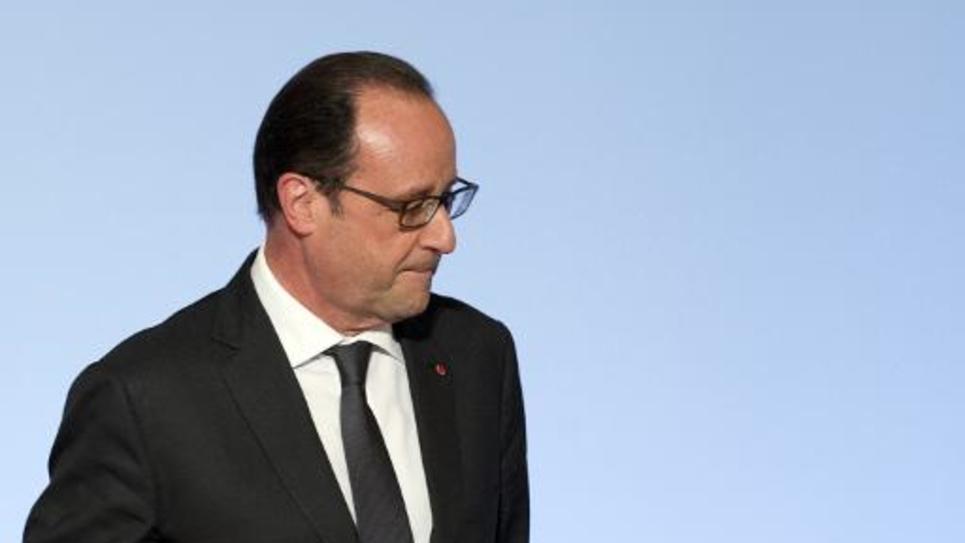 Le président François Hollande à l'Elysée, le 4 juin 2015 à Paris