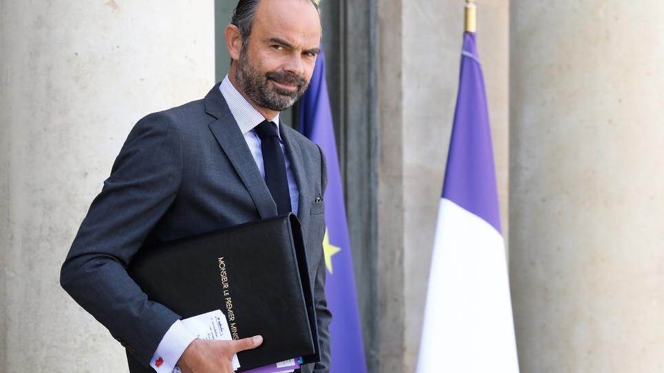 Le Premier ministre Edouard Philippe sur le perron de l'Elysée, le 19 septembre 2018 à Paris