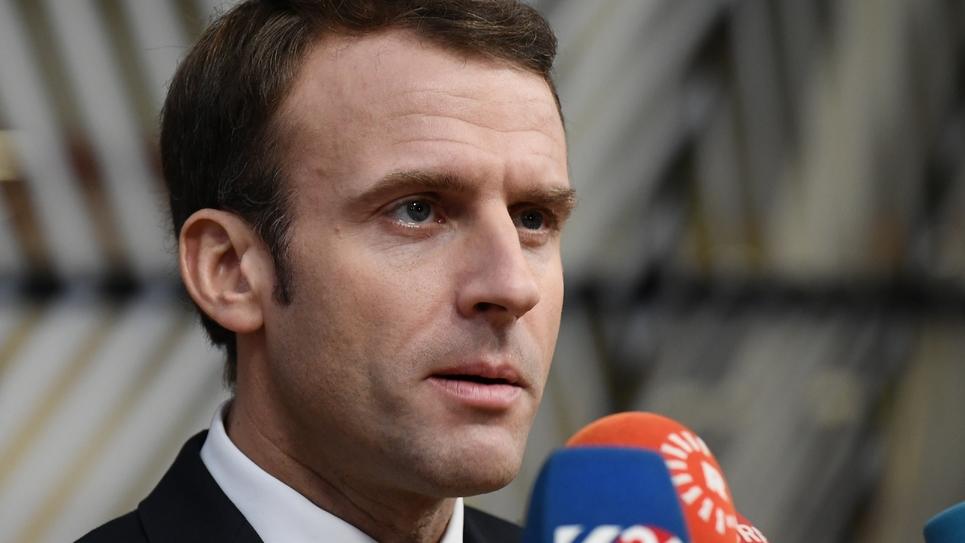 Emmanuel Macron s'adresse à la presse le 25 novembre 2018 à Bruxelles