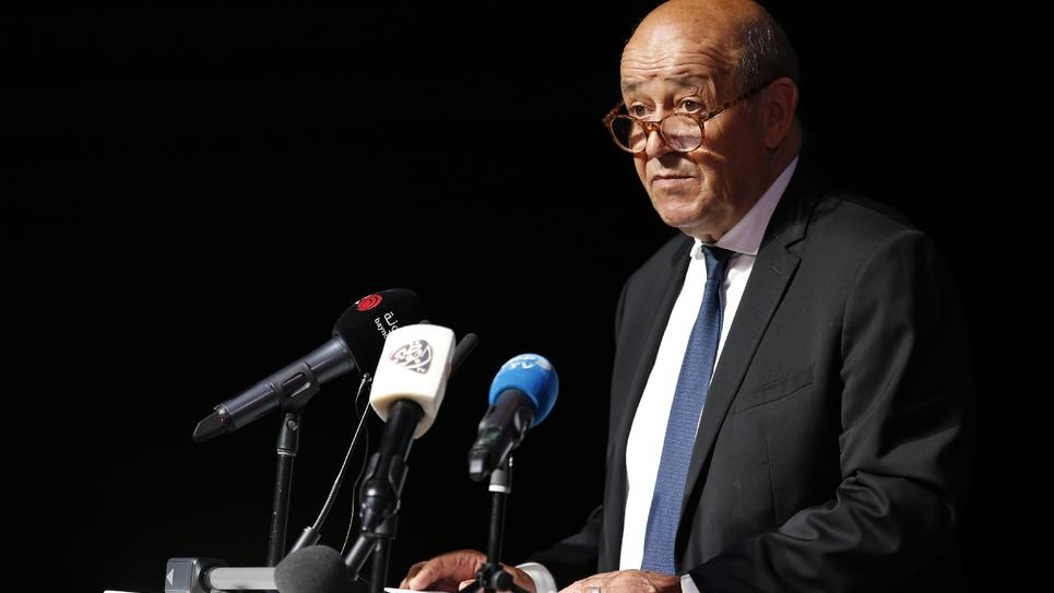 Le chef de la diplomatie française à Abou Dhabi, le 4 septembre 2018