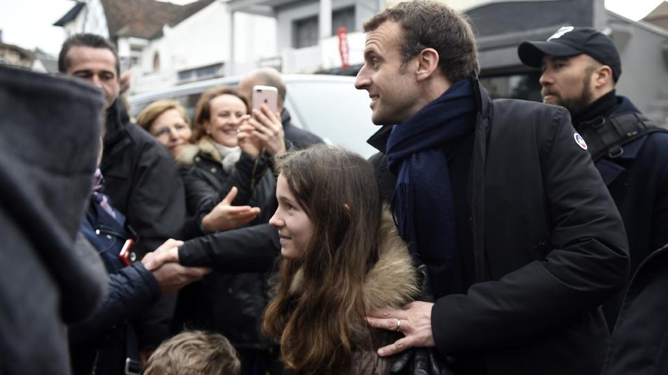 Emmanuel Macron au Touquet dimanche 1er avril 2018