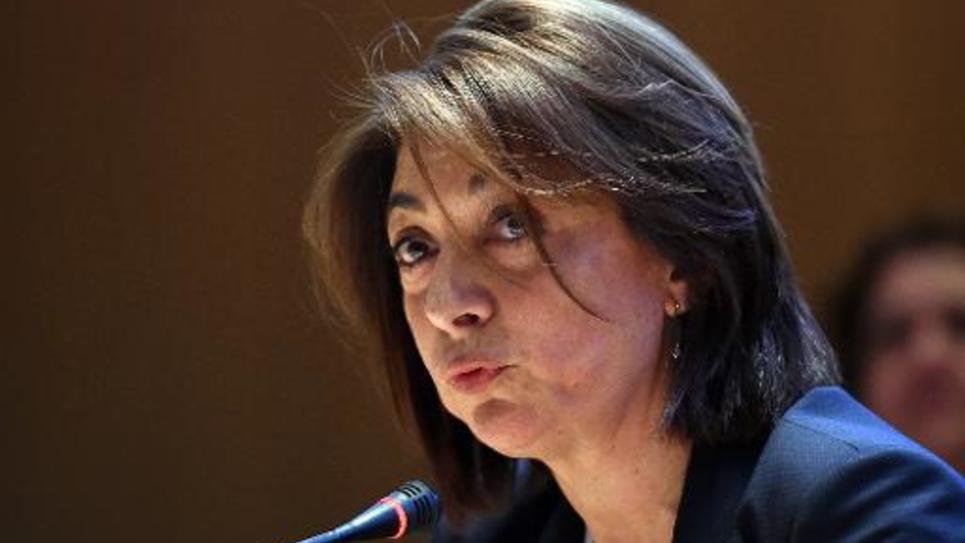 Martine Vassal (UMP) élue présidente des Bouches-du-Rhônes, le 2 avril 2015 à Marseille