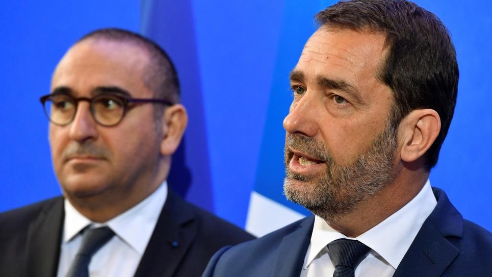 Christophe Castaner (D) et Laurent Nunez (G) le 3 mai 2019 à Toulon