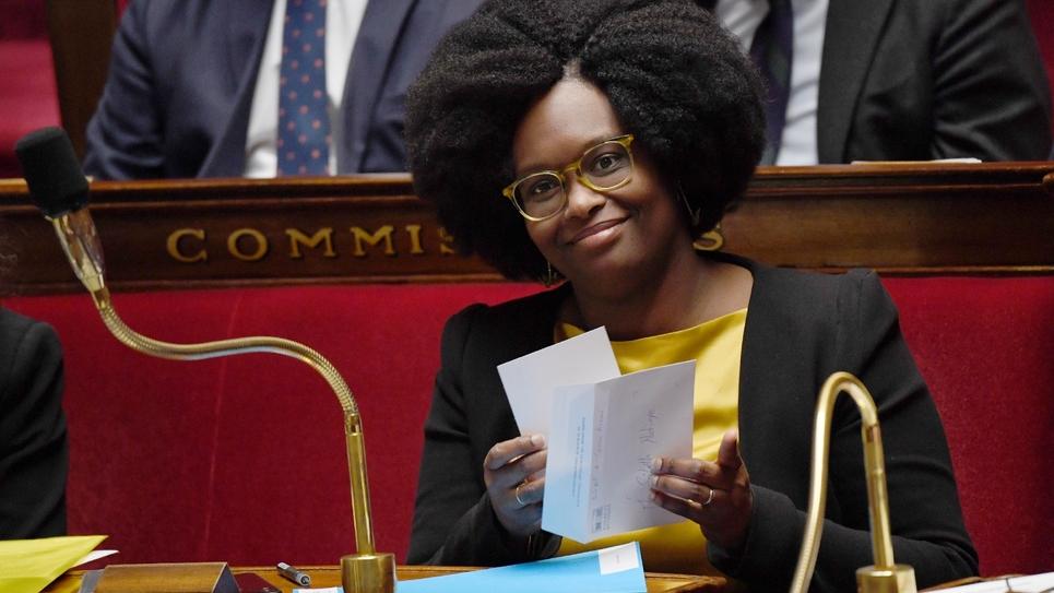 La porte-parole du gouvernement Sibeth Ndiaye à l'Assemblée nationale, le 3 avril 2019 à Paris
