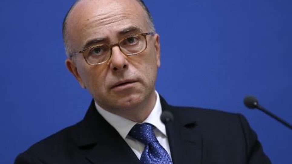 Le ministre de l'Intérieur Bernard Cazeneuve lors d'une conférence de presse à Paris le 13 novembre