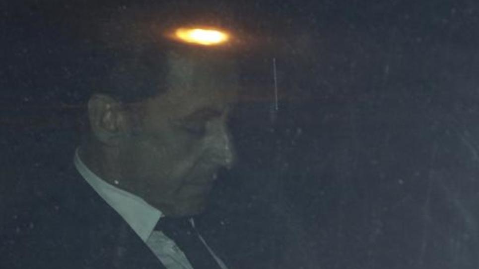Nicolas Sarkozy quitte le pôle financier du Tribunal de Grande de Instance de Paris, le 2 juillet 2014