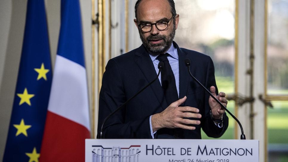 Le Premier ministre Edouard Philippe, le 26 février 2019 à l'Hôtel Matignon à Paris