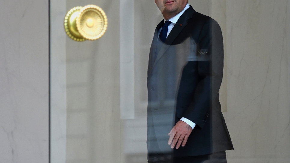 Le président français François Hollande, le 4 janvier 2017 à l'Elysée à Paris