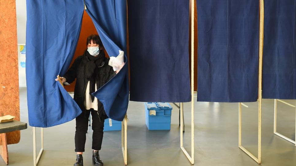 Lors du premier tour des élections municipales le 15 mars 2020 à Bordeaux