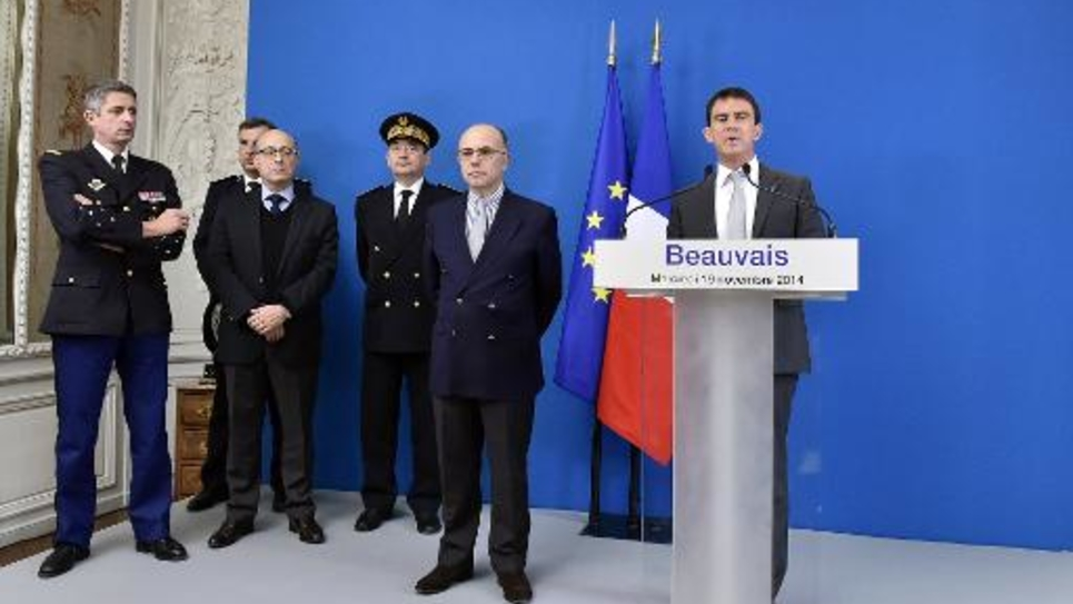 Le Premier ministre Manuel Valls, le 19 novembre 2014 à Beauvais