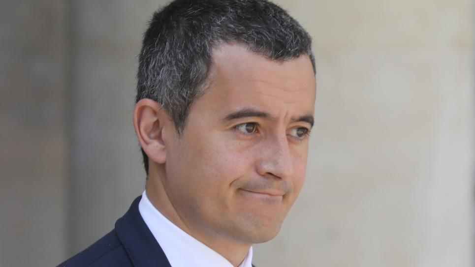 Le ministre français des Comptes publics Gérald Darmanin quitte le palais de l'Elysée après le Conseil des ministres, le 17 juillet 2019 à Paris