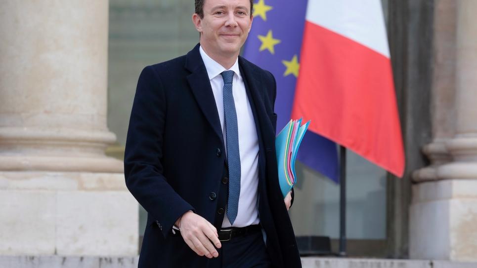 Le porte-parole du gouvernement, Benjamin Griveaux à l'Elysée le 20 février 2019 à Paris