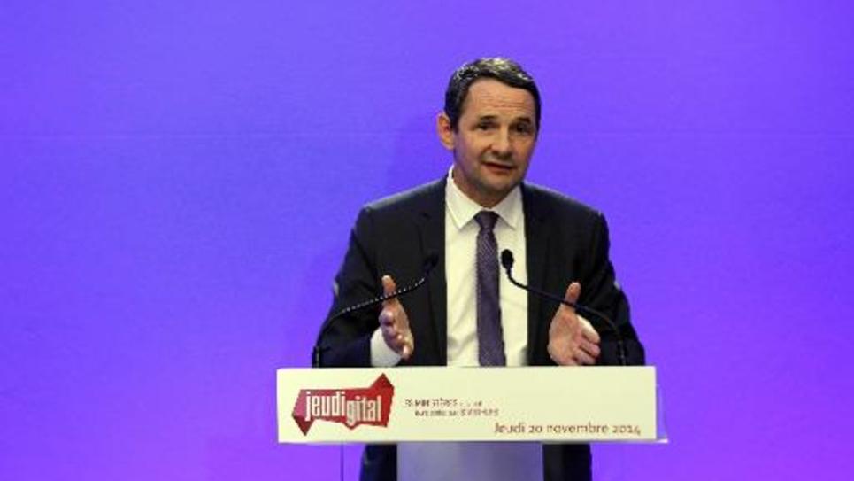 Le secrétaire d'Etat à la Simplification, Thierry Mandon, le 20 novembre 2014 à l'Hôtel Matignon, à Paris