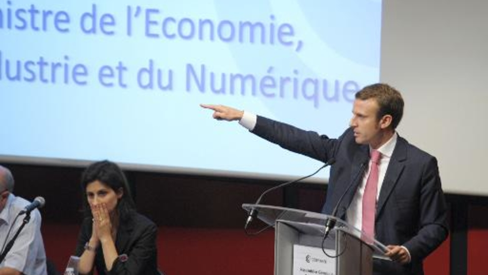 Le nouveau ministre de l'Economie, Emmanuel Macron, à Paris le 18 septembre 2014