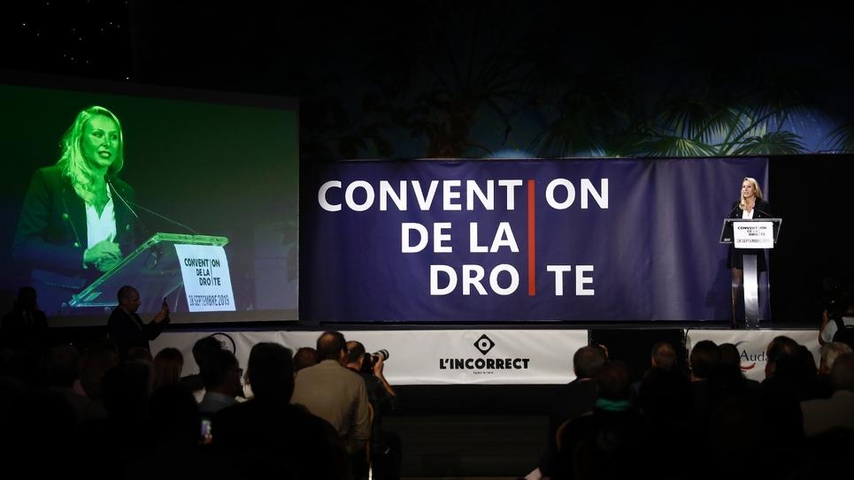 """Marion Maréchal à la """"Convention de la Droite"""" à Paris, le 28 septembre 2019"""