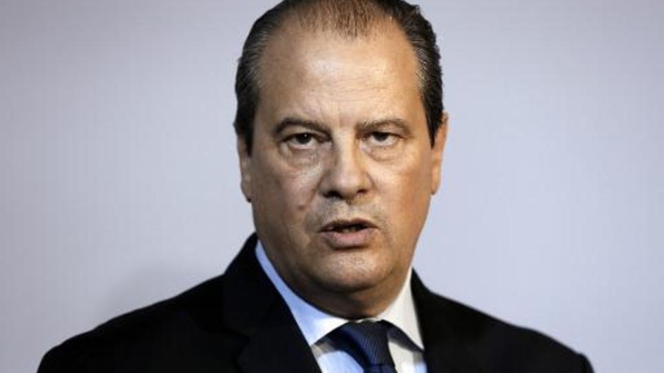 Jean-Christophe Cambadelis lors d'une conférence de presse le 23 octobre 2014 à Paris