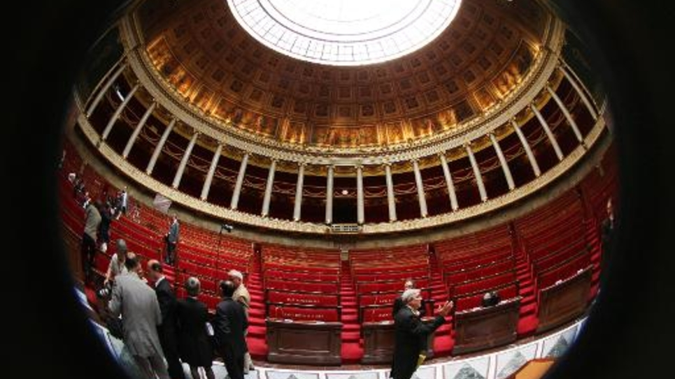 Vue de l'hémicycle de l'Assemblée nationale, le 19 juin 2007