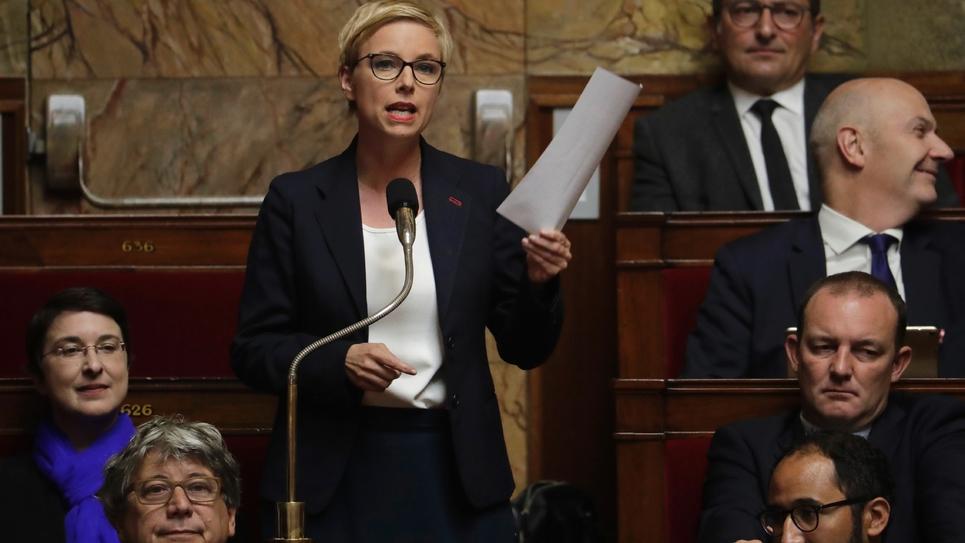 Clémentine Autain lors des questions au gouvernement à l'Assemblée nationale le 3 octobre 2018