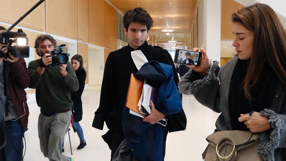L'avocat Juan Branco, proche de Piotr Pavlensky, au TGI de Paris, le 18 février 2020