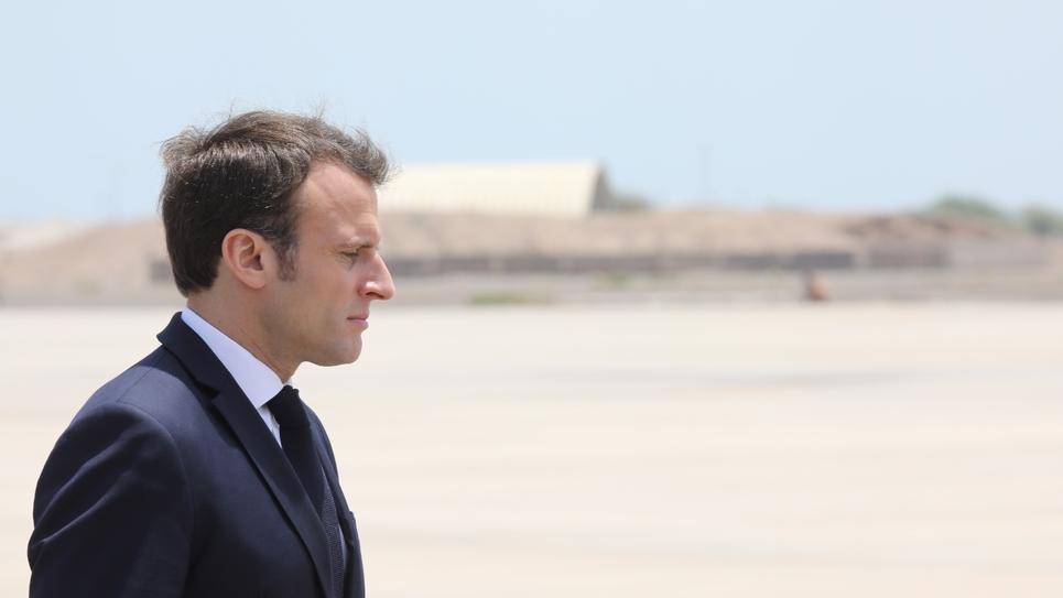 Emmanuel Macron en visite à Djibouti, le 12 mars 2019