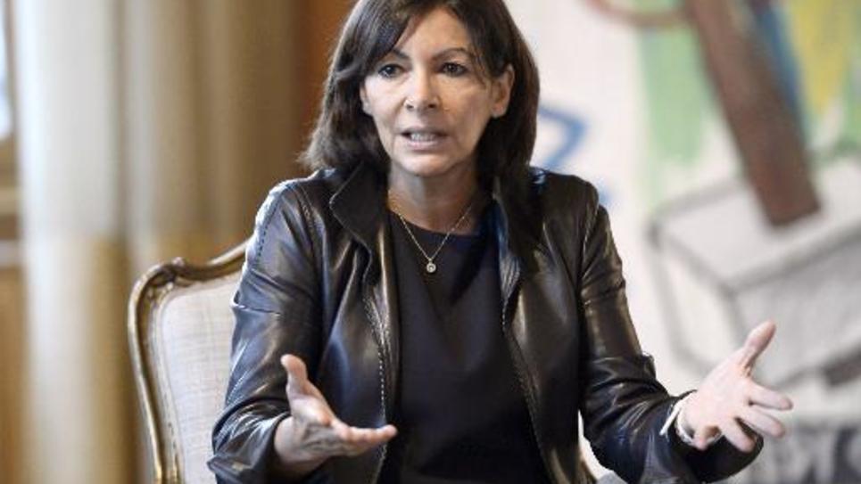 La maire de Paris Anne Hidalgo le 17 novembre 2014 à l'Hôtel de Ville