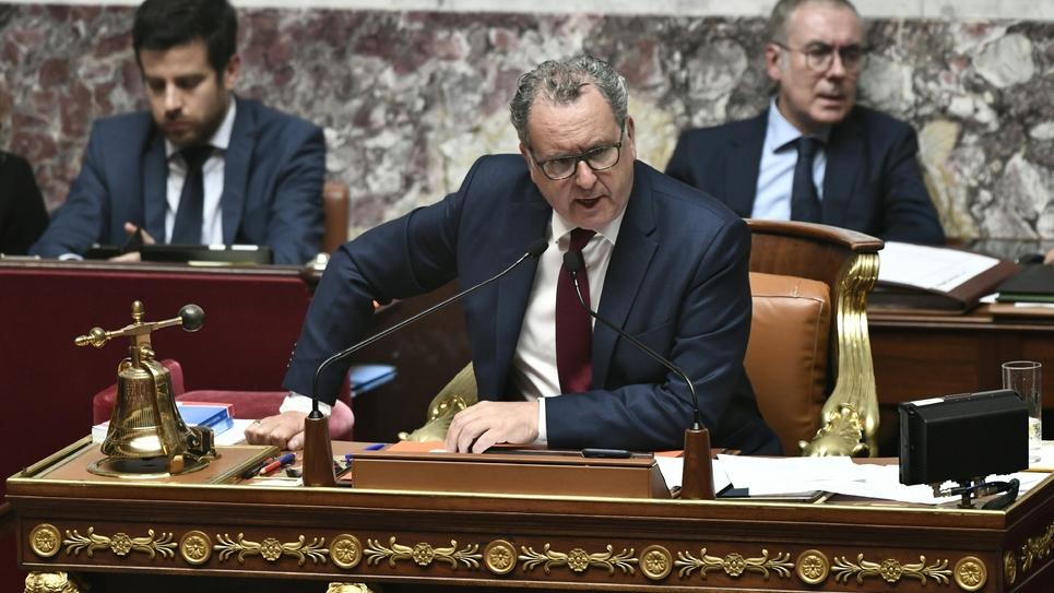 Le président de l'Assemblée nationale Richard Ferrand lors des questions-réponses au gouvernement, le 23 juillet 2019 à Paris
