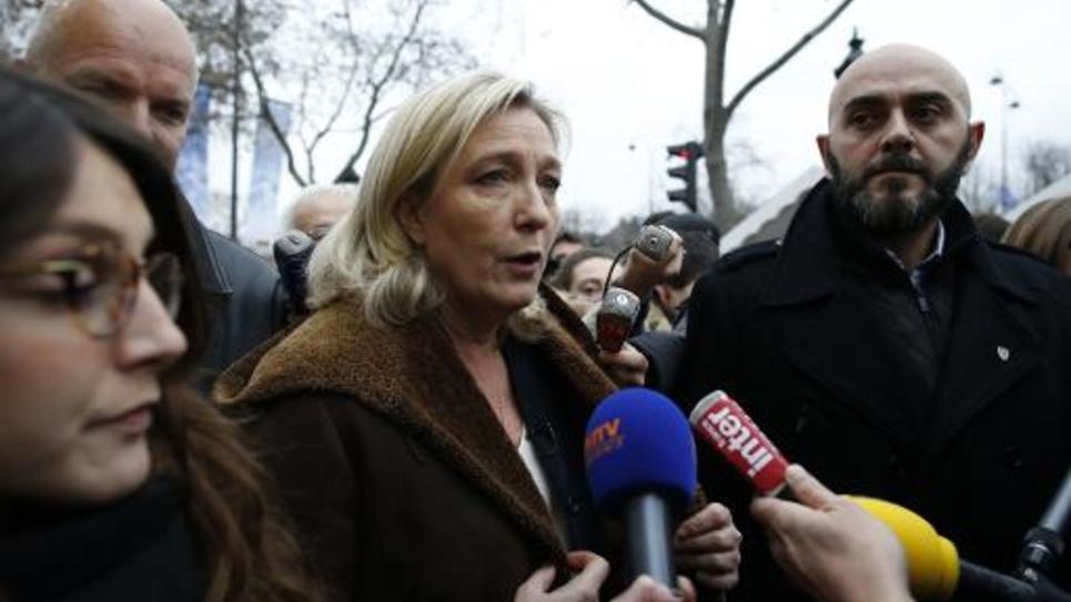 La présidente du Front national, Marine Le Pen, le 22 décembre 2014 à Paris