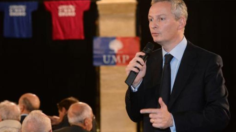 Bruno Le Maire lors d'un meeting le 6 novembre 2014 à Bordeaux