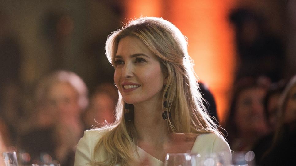 """La fille du président américain Ivanka Trump, photographiée  en octobre 2017 à une rencontre des """"femmes de pouvoir"""" organisée à Washington."""