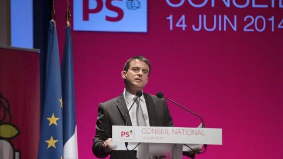 Le Premier ministre Manuel Valls lors du conseil national du Parti socialiste à Paris, le 14 juin 2014