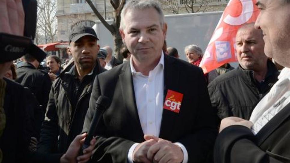 Le secrétaire général de la CGT, Thierry Lepaon, le 12 mars 2014