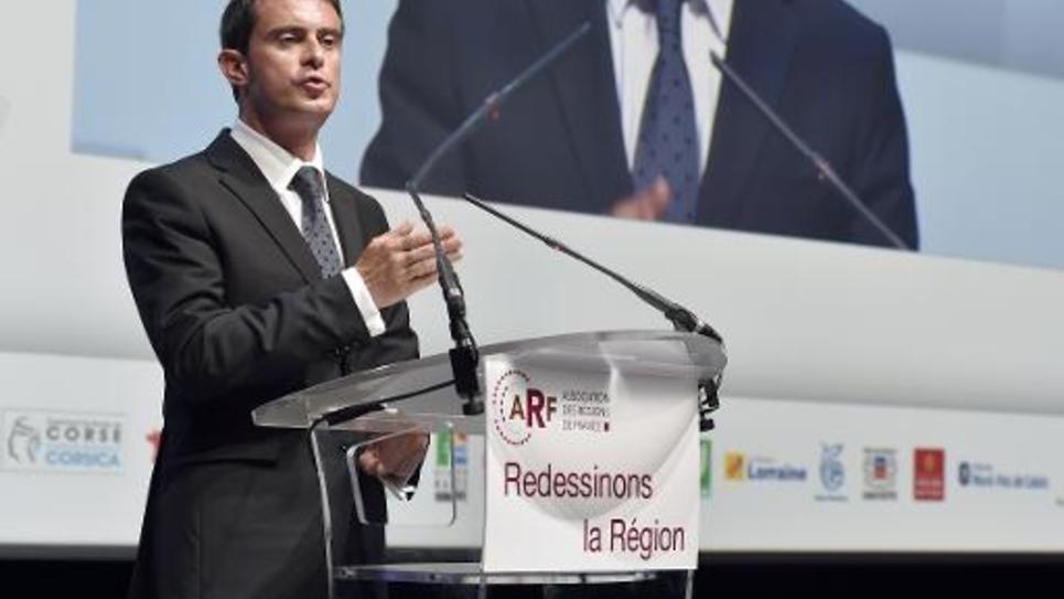Le Premier ministre Manuel Valls lors du 10e congrès de l'Association des régions de France, le 10 octobre 2014 à Toulouse