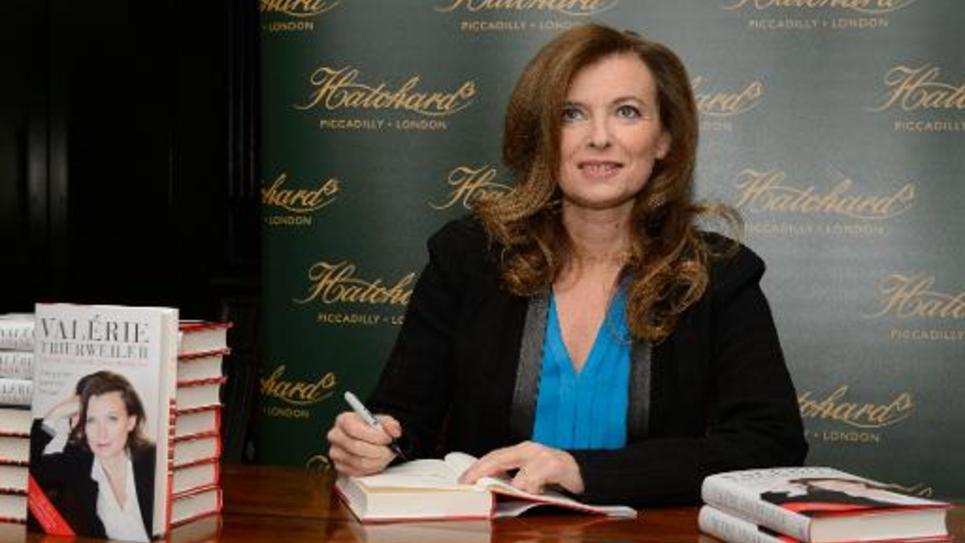 Valérie Trierweiler lors d'une séance de signature le 25 novembre 2014 à Londres