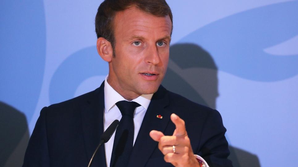 Le président Emmanuel Macron lors d'une conférence de presse à Luxembourg, le 6 septembre 2018