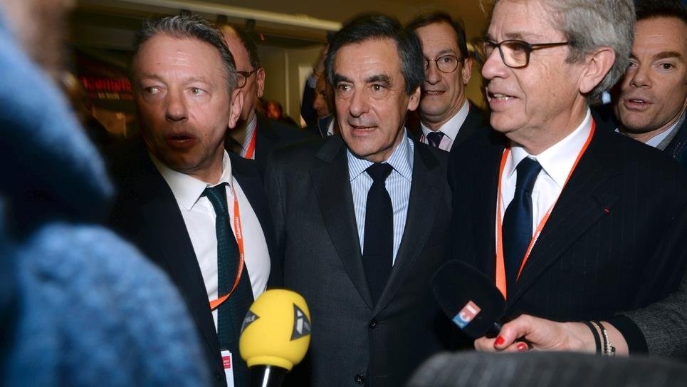 François Fillon en visite au Salon des Entrepreneurs le 1er février 2017 à Paris