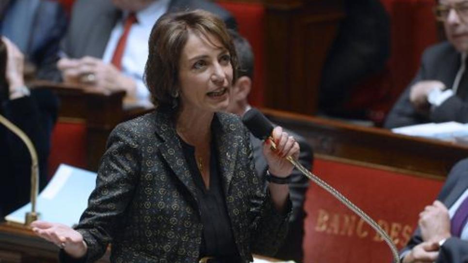 La ministre de la Santé Marisol Touraine lors d'une session de questions au gouvernement à l'Assemblée nationale le 28 octobre 2014