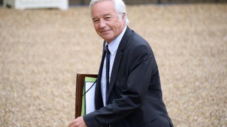 Le ministre du Travail François Rebsamen arrive à l'Elysée, le 27 août 2014