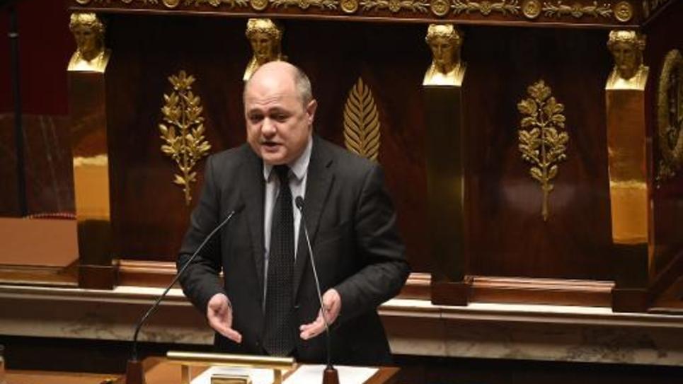 Bruno Le Roux, chef des députés PS, le 19 février 2015 à l'Assemblée nationale à Paris