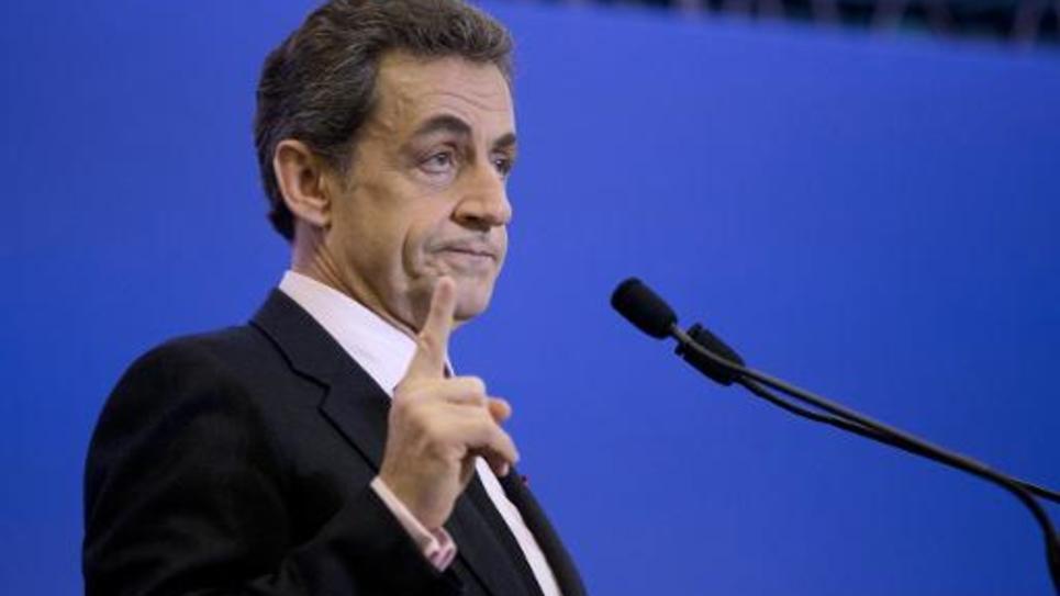 Nicolas Sarkozy, le 8 avril 2015 à Paris