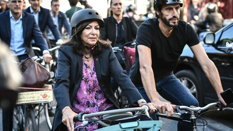 Anne Hidalgo à vélo à Paris le 4 septembre 2019
