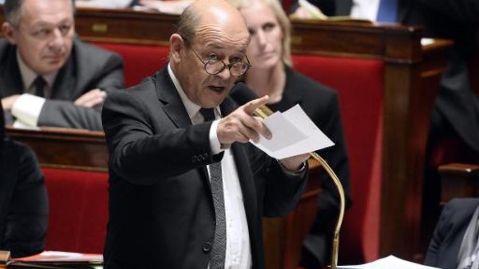 Le ministre de la Défense Jean-Yves Le Drian à l'Assemblée nationale le 29 octobre 2014
