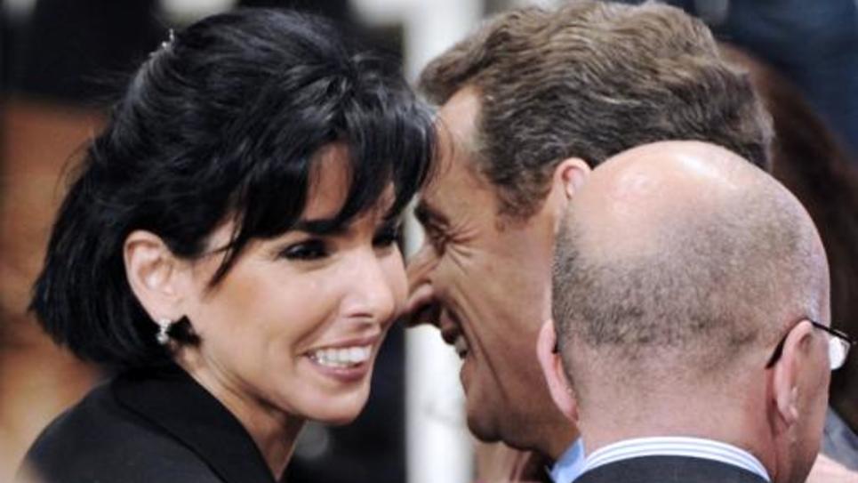 Rachida Dati et Nicolas Sarkozy après un meeting de la campagne pour la présidentielle à Toulon, le 3 mai 2012