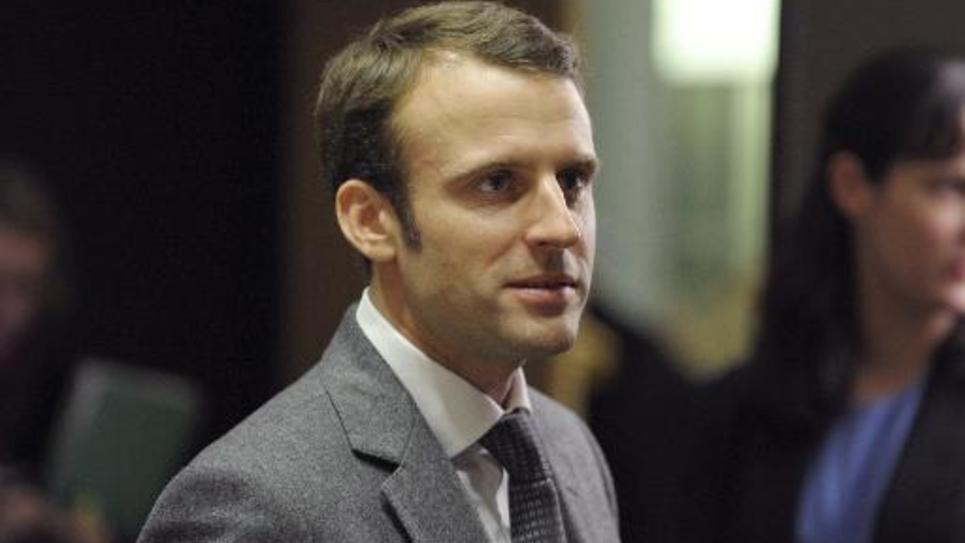Emmanuel Macron le 16 décembre 2014 à l'Assemblée nationale à Paris