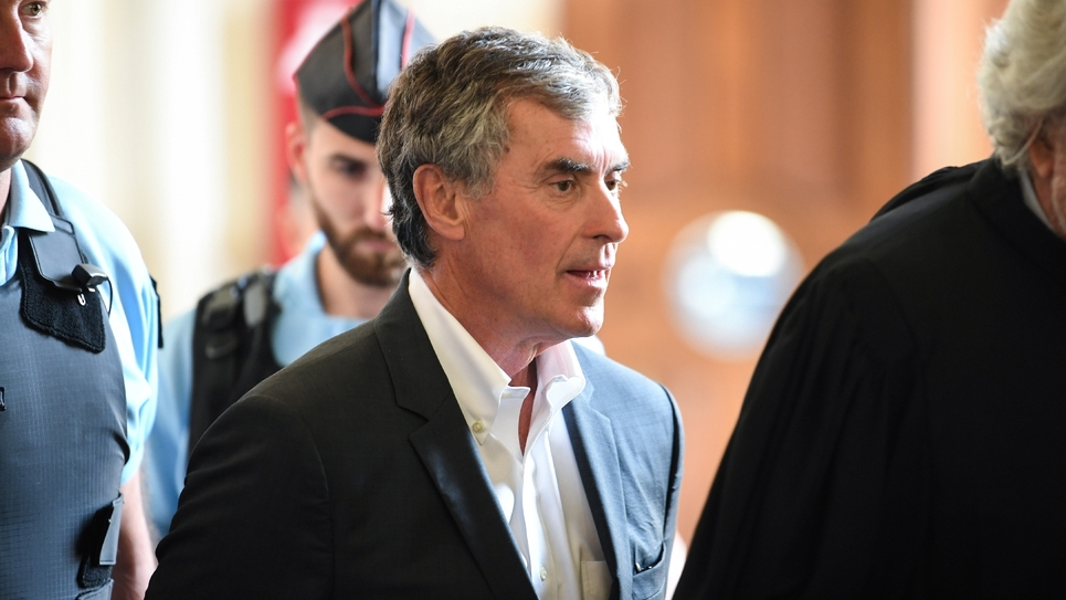 Jérôme Cahuzac lors de son procès en appel, le 15 mai 2018 à Paris