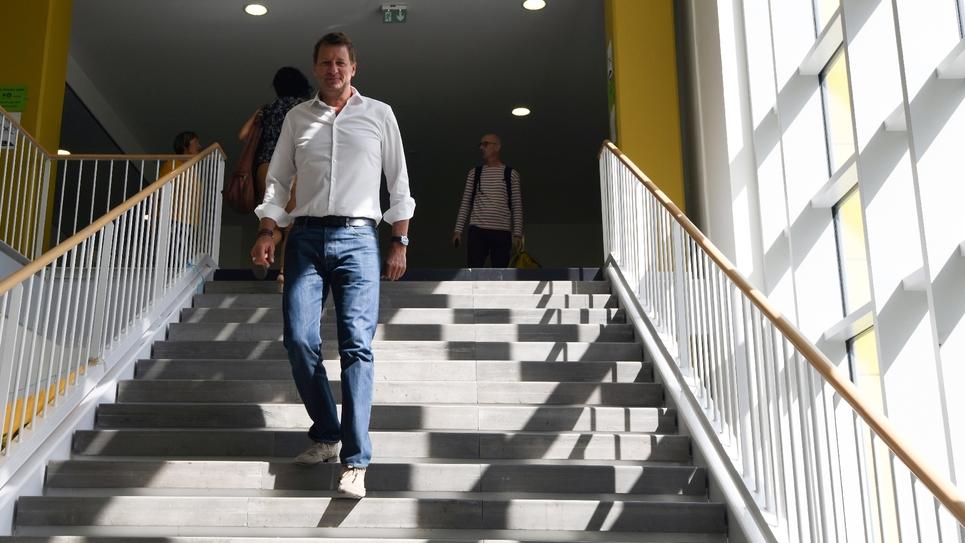 Le député européen EELV  Yannick Jadot le 23 août 2019 aux universités d'été d'EELV à Toulouse