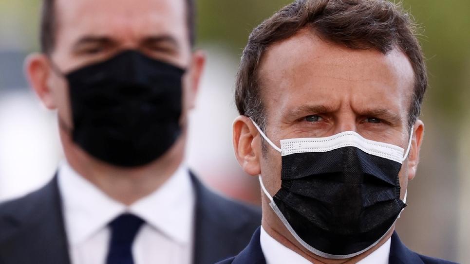 Le président Emmanuel Macron et le Premier ministre Jean Castex le 8 mai 2021 à Paris